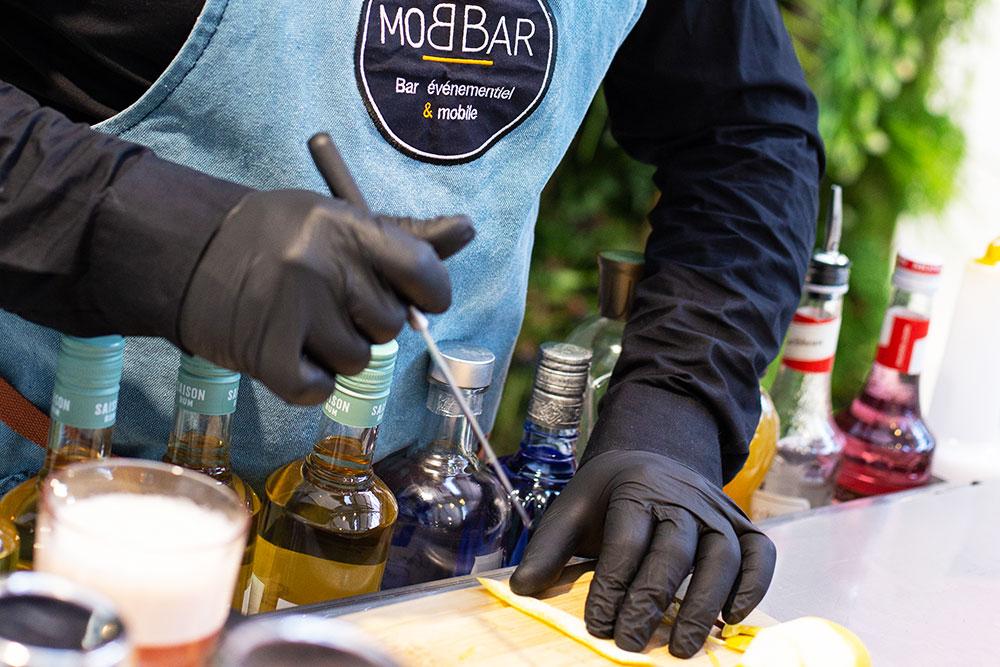 Bar mobile à Cocktail pour événements conviviaux